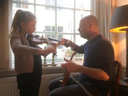 Individuele vioollessen en ensemble-spel